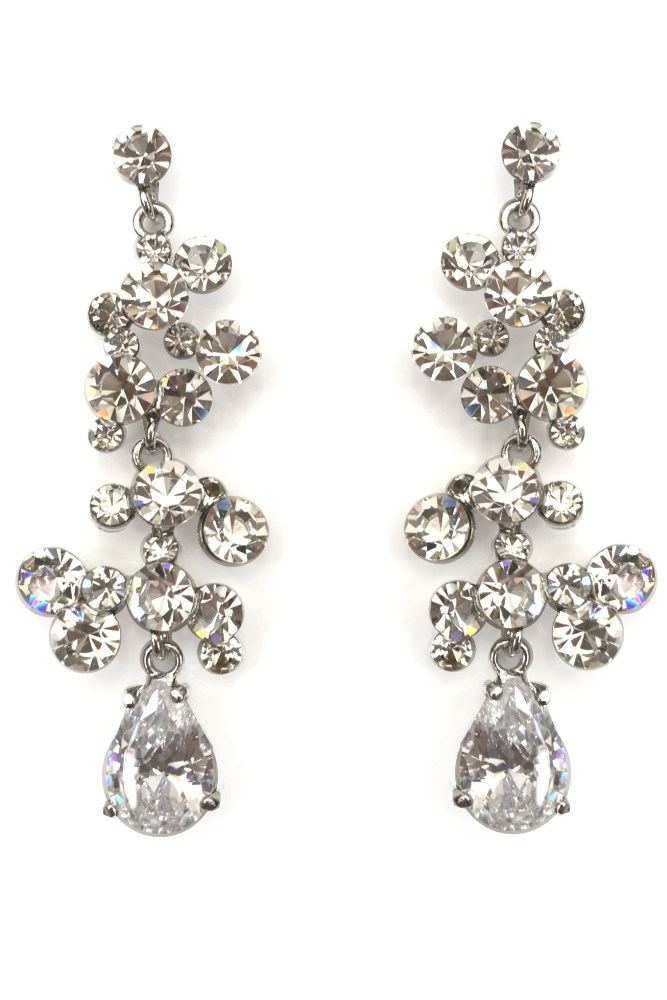 copenhagen crystal chandelier earrings haute on high. Black Bedroom Furniture Sets. Home Design Ideas