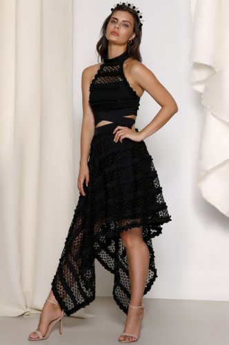 653ae4cd1053a8 Asymmetric Crossover Lace Two Piece Black